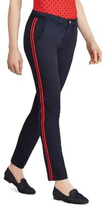 Ralph Lauren Track-Stripe Ankle Pants