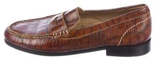 Martin Dingman Alligator Dress Loafers