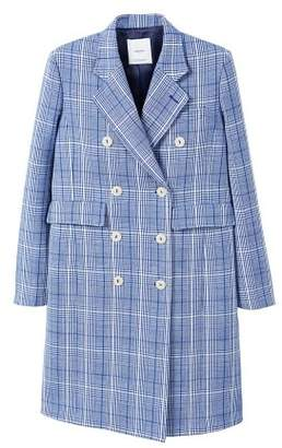 MANGO Checked structured coat