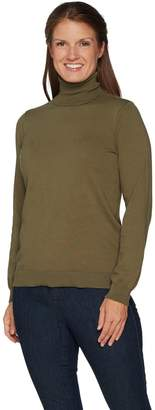 Denim & Co. Essentials Turtle Neck Sweater w/ Rib Trim