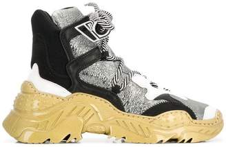No.21 chunky high top sneakers