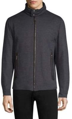 Salvatore Ferragamo Reversible Wool Bomber Jacket