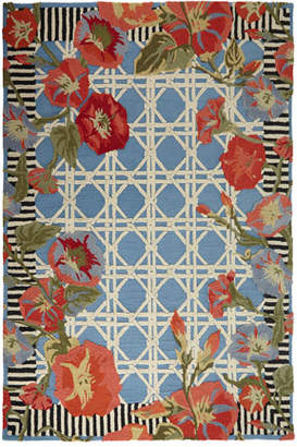 At Neiman Marcus Mackenzie Childs Blue Morning Glory Indoor Outdoor Rug