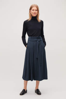 Cos BELTED VOLUMINOUS-LEG TROUSERS