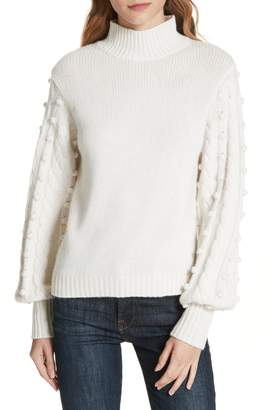 Autumn Cashmere Popcorn Sleeve Cashmere & Wool Blend Sweater