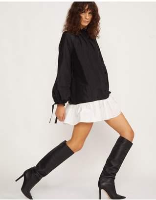 Cynthia Rowley Gisele Bell Sleeve Flounce Dress