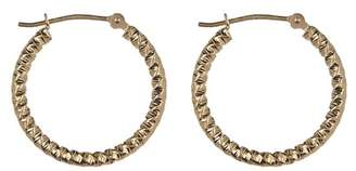 Candela 14K Yellow Gold Diamond-Cut Textured 20mm Hoop Earrings