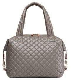 MZ Wallace Medium Metallic Quilted Sutton Tote