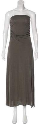 Rick Owens Lilies Strapless Midi Dress