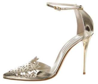 Oscar de la Renta Fezra Metallic Pointed-Toe Pumps