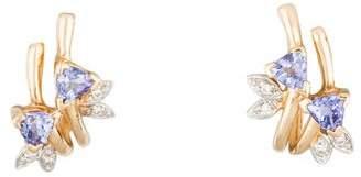 14K Tanzanite & Diamond Earrings