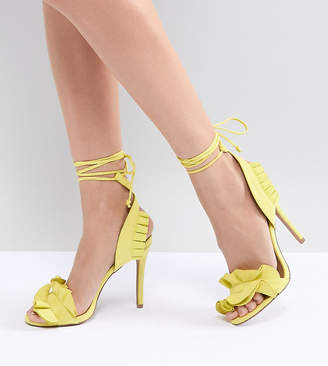 Qupid Ruffle Heeled Sandals