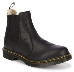 Dr. Martens Leather Faux-Fur Lined Chelsea Boots