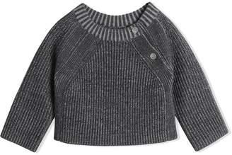 Burberry Rib Knit Merino Wool Sweater