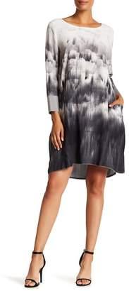 Go Silk go \u003E by GoSilk Go 3\u002F4 Sleeve Silk Swing Dress