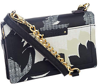 Emma & Sophia Printed Leather Phone/WalletCrossbody Bag