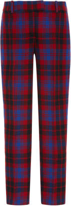 Ermanno Scervino Plaid Straight-Leg Twill Trousers