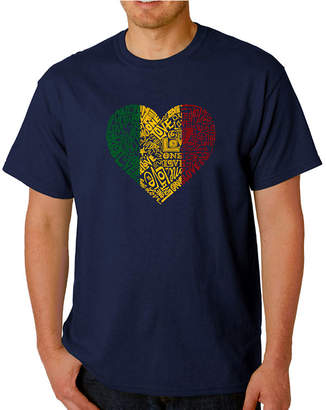 LOS ANGELES POP ART Los Angeles Pop Art One Love Heart Logo Graphic T-Shirt-Big and Tall