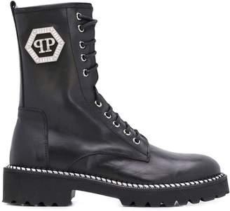 Philipp Plein military boots