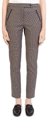 Gerard Darel Gloriana Zip-Pocket Check Pants