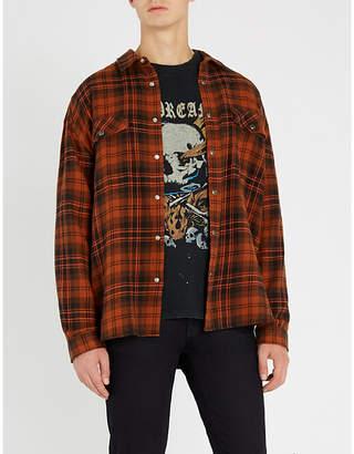 The Kooples Plaid oversized cotton shirt