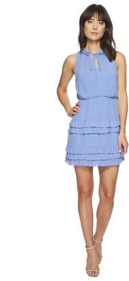 Laundry by Shelli Segal Front Tie Ruffle Tiered Detail Dress Women's Dress