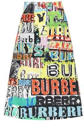 Burberry Logo Print cotton skirt