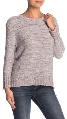 Susina Crew Neck Marled Knit Sweater (Regular & Petite)