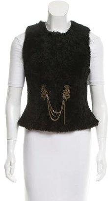 Ralph Lauren Embellished Shearling Vest $295 thestylecure.com