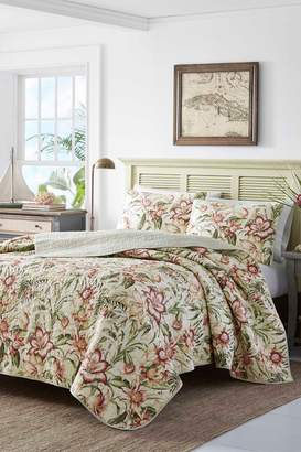 Tommy Bahama Tropical Lily Quilt & Sham Set - Pink/Green