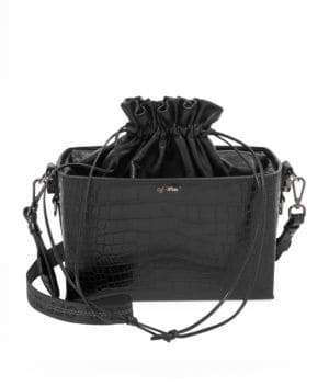 Off-White Croc-Embossed Leather Soft Boxy Bag
