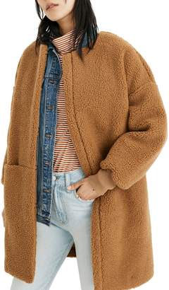 Madewell Bonded Fleece Cocoon Coat