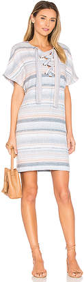 Mara Hoffman Lace Up Mini Dress in Blue $295 thestylecure.com