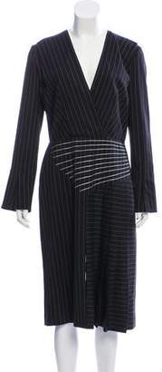 Marco De Vincenzo Wool Striped Midi Dress w/ Tags