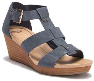 Dr. Scholl's Barton Snakeskin Embossed Wedge Sandal