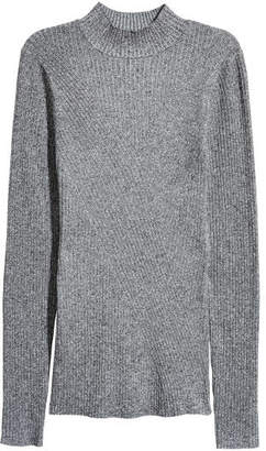 H&M Mock-turtleneck Sweater - Gray