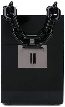 Oscar de la Renta Alibi box top handle bag