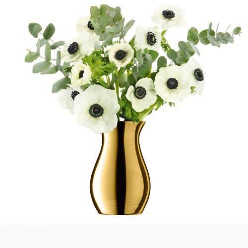 Vase Flower Metallic Posy, goldfarben