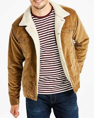 Jacamo Tan Borg Lined Cord Jacket L