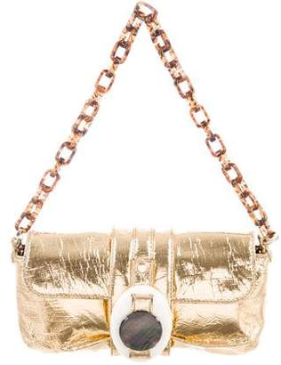 Lanvin Metallic Leather Shoulder Bag