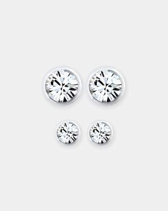 Swarovski Earring Set 925 Sterling Silver Crystal
