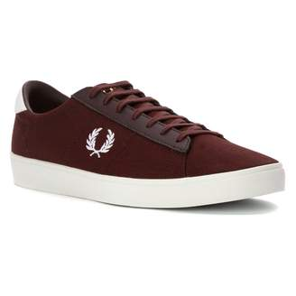 Fred Perry Men's Spencer Canvas/Leather Burgundy/White Sneaker UK 8 (US Men's 9) D (M)