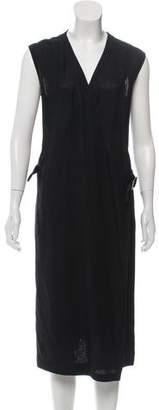 Hermes Linen Wrap Dress