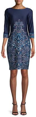 LORI MICHAELS Paisley-Print Shift Dress