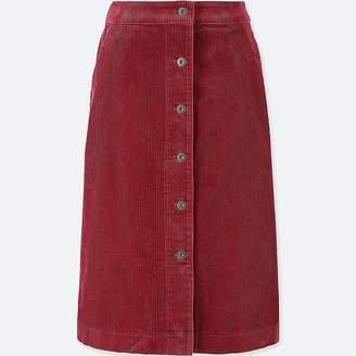 Uniqlo Women's Corduroy High-waist Front Button Skirt