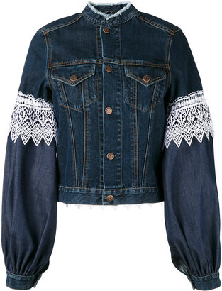 Forte Couture Athos lace and denim jacket
