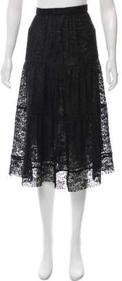 See by Chloe Lace Pleated Knee-Length Skirt