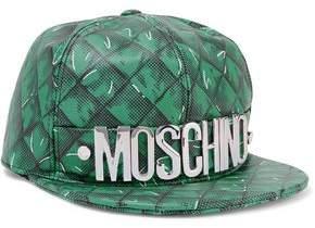 Moschino Printed Leather Baseball Cap