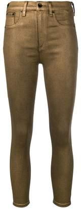 Rag & Bone metallic coated skinny jeans