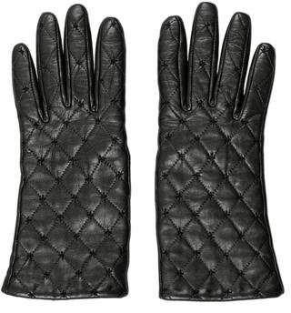 Carolina Amato Quilted Lambskin Gloves